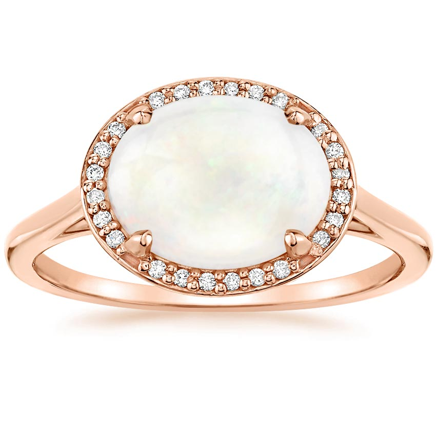 cadence rose top gold revise in opal earth brilliant ring