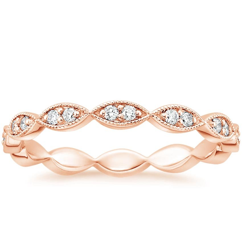 Rose Gold Vintage Inspired Eternity Ring