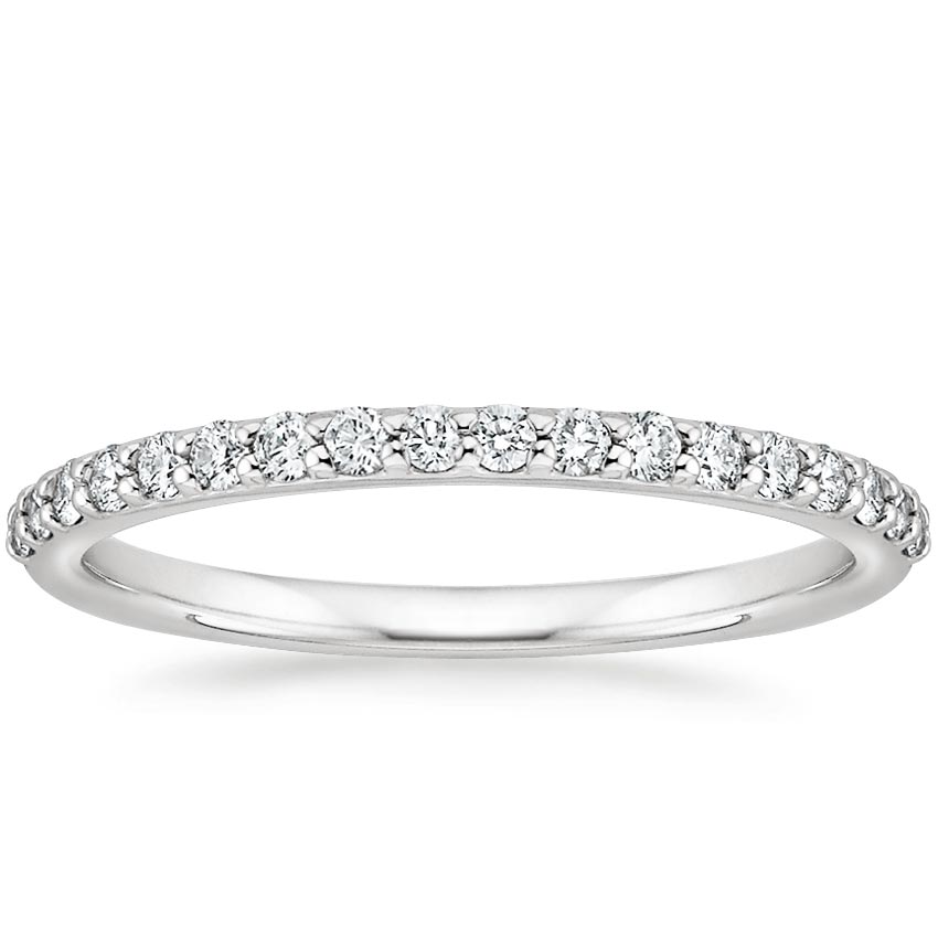 gold rings band in wedding tw diamond forevermark white