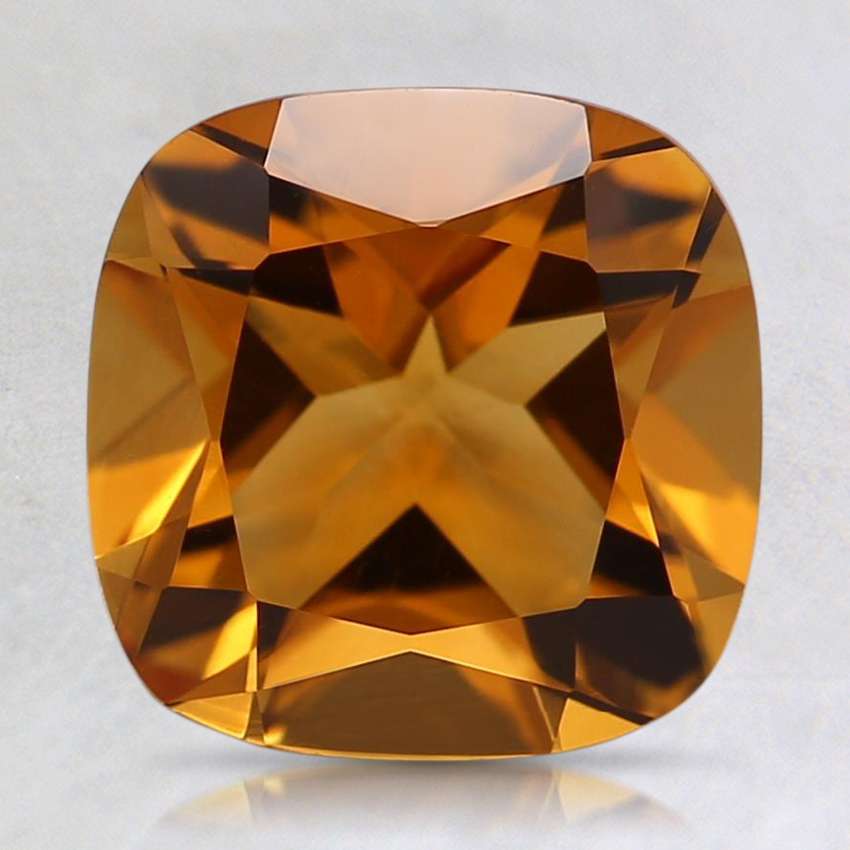 8.2mm Orange Cushion Citrine