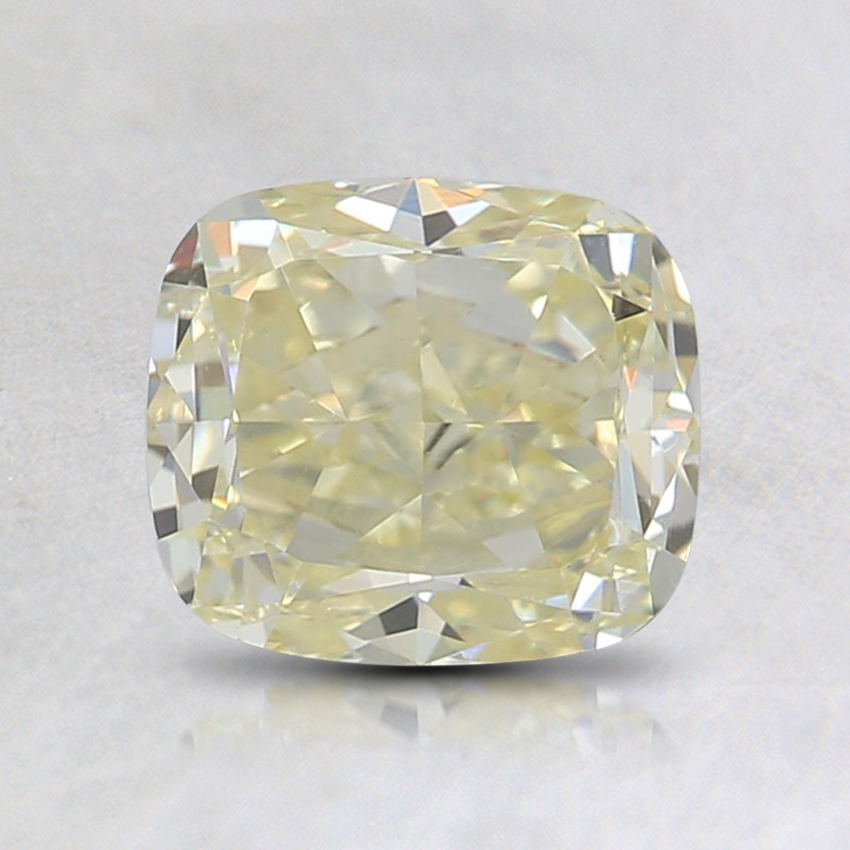 1.38 Ct. Fancy Light Yellow Cushion Diamond