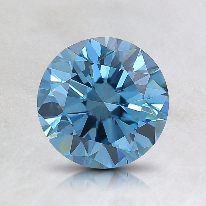1.00 Ct. Fancy Intense Blue Round Lab Created Diamond