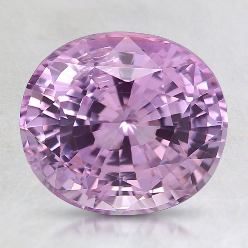 8.5x7.5mm Pink Oval Sapphire