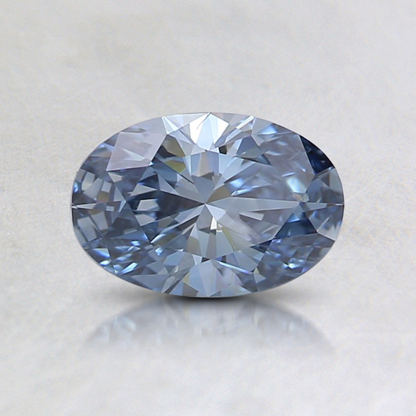 0.57 Ct. Fancy Intense Blue Oval Lab Created Diamond