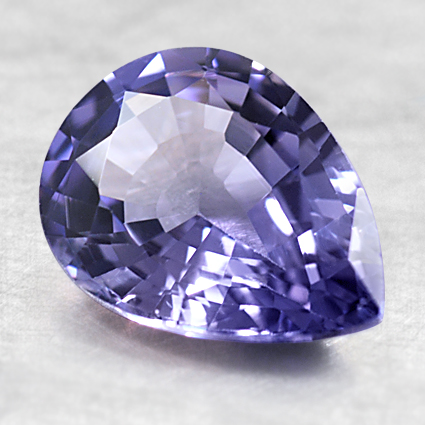 8.6x6.5mm Unheated Blue Pear Shaped Sapphire, top view