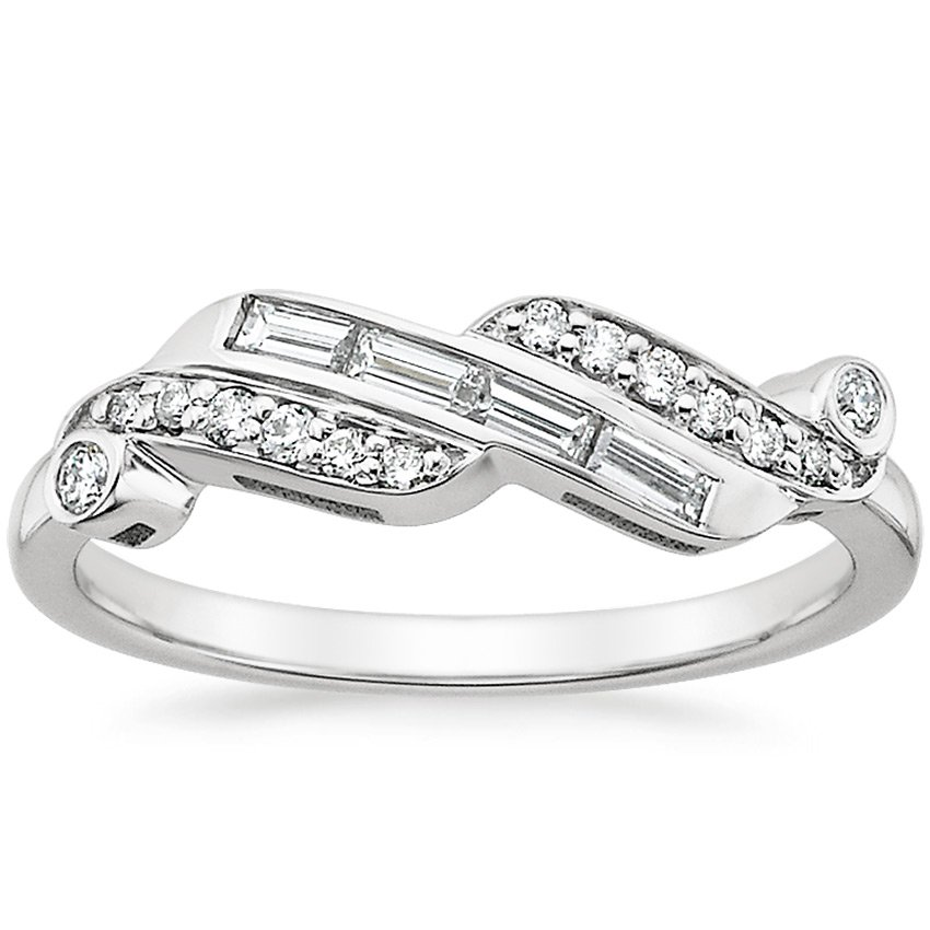 18K White Gold Orianthe Diamond Ring (1/4 ct. tw.), top view