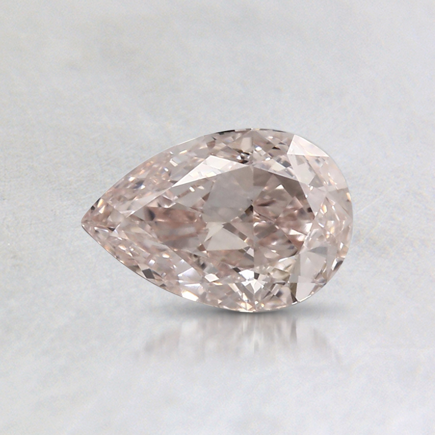 0.45 Ct. Fancy Light Orangy Pink Pear Colored Diamond