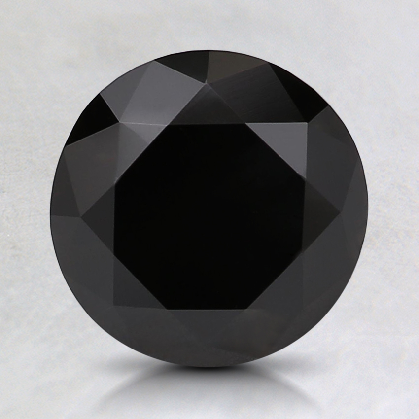 2.33 Ct. Fancy Black Round Colored Diamond