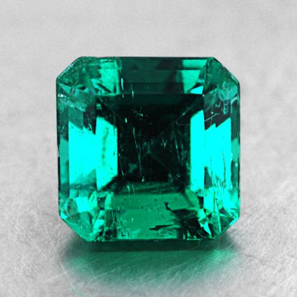 5.38mm Asscher Emerald, top view