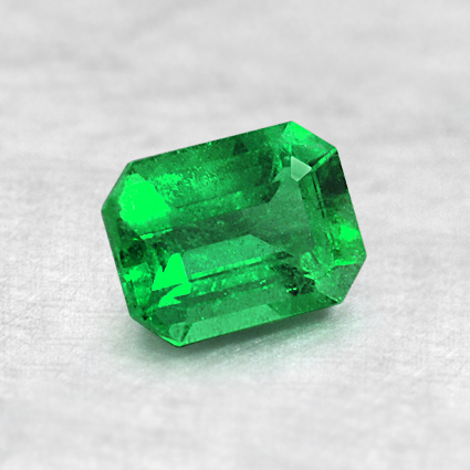 6x4.5mm Emerald Cut Emerald, top view
