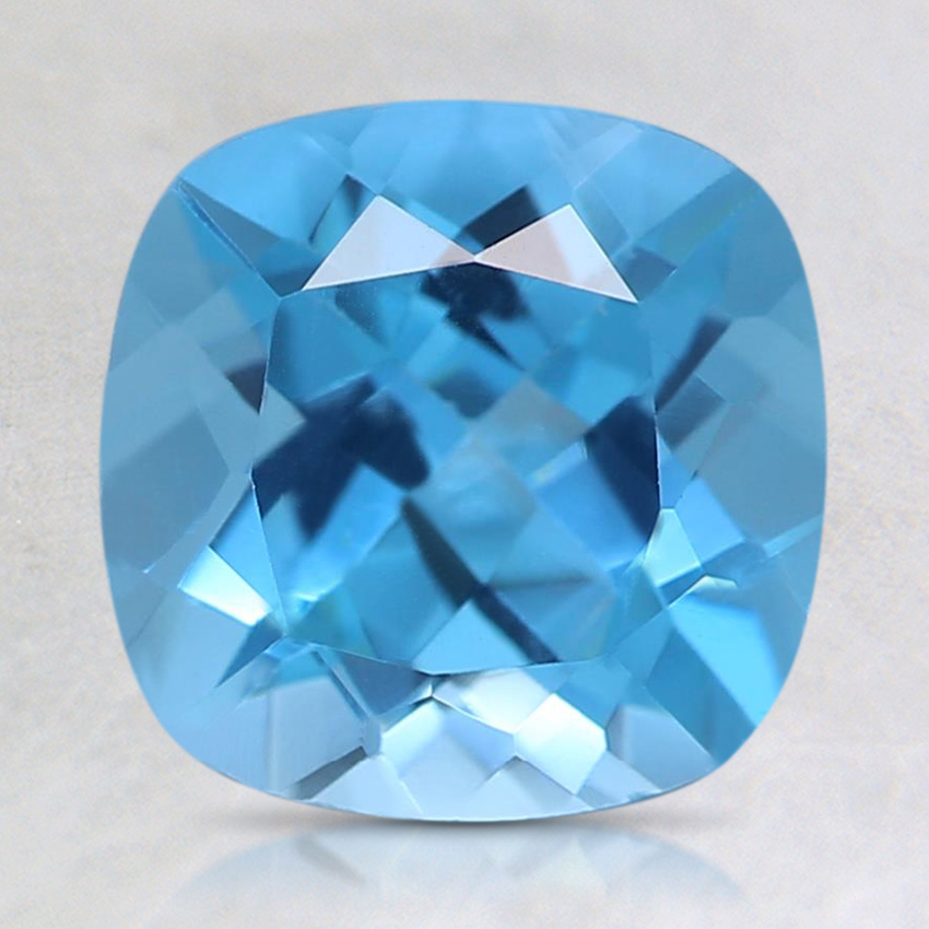 8mm Swiss Blue Cushion Topaz
