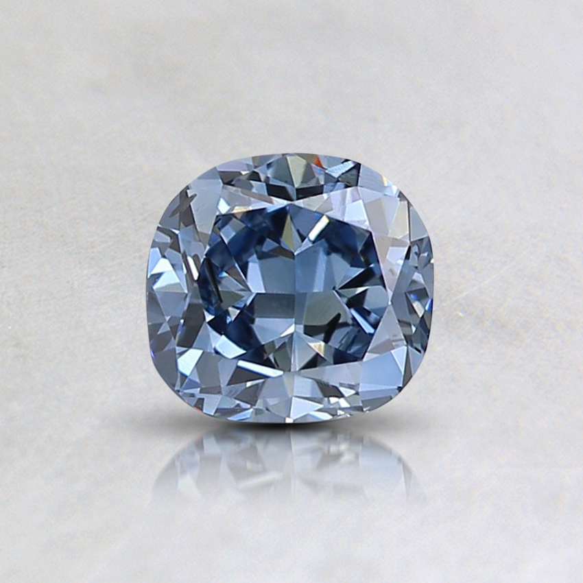 0.60 Ct. Fancy Vivid Blue Cushion Lab Created Diamond