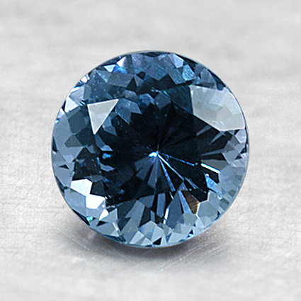 6.mm Blue Round Sapphire, top view