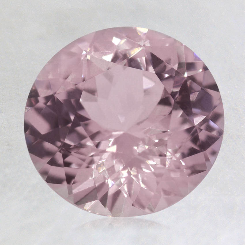 8mm Pink Round Sapphire, top view
