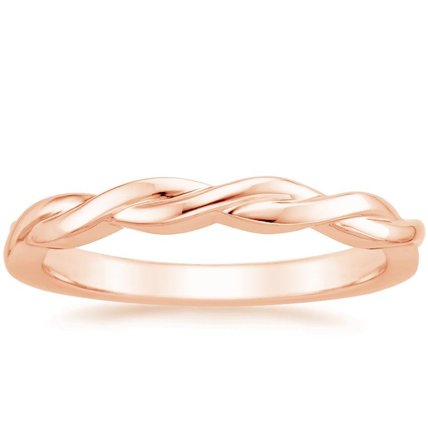 Rose Gold Twisted Vine Ring