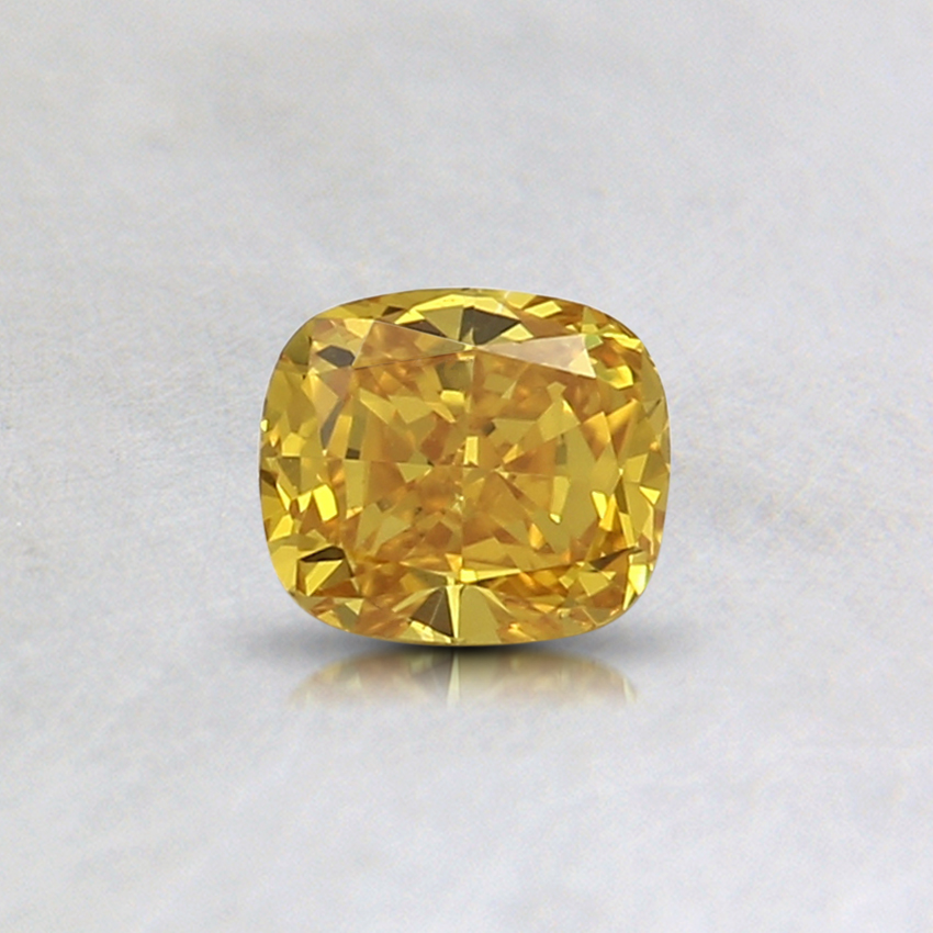 0.38 Ct. Fancy Vivid Orange-Yellow Cushion Lab Created Diamond