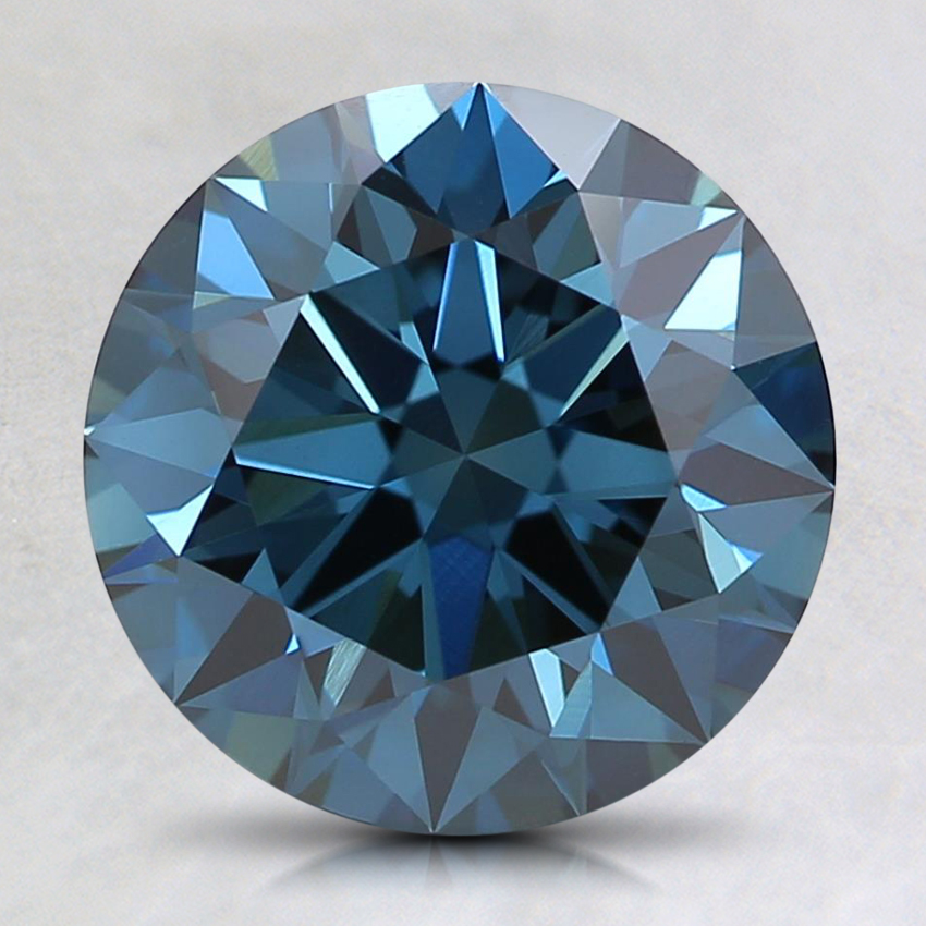2.16 Ct. Fancy Dark Blue Round Lab Created Diamond