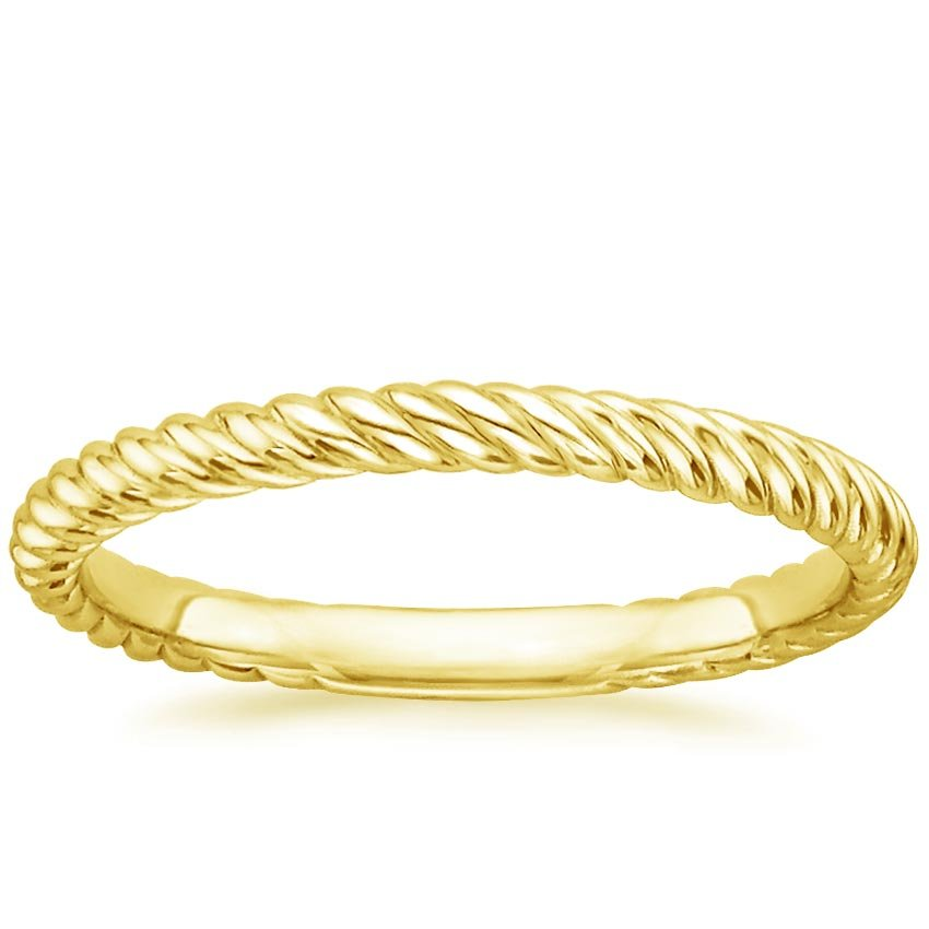 18K Yellow Gold Entwined Ring, top view