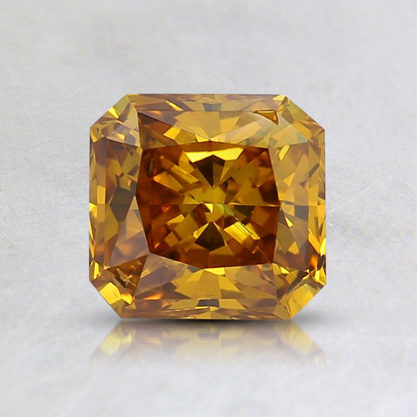 1.04 Ct. Fancy Deep Yellowish Orange Radiant Lab Created Diamond