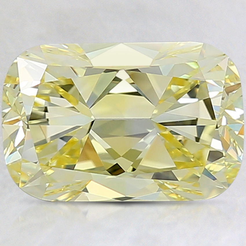 3.16 Ct. Fancy Yellow Cushion Lab Created Diamond