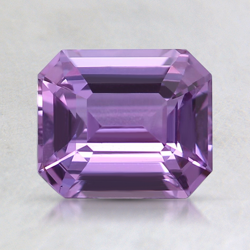 7.1x6.1mm Unheated Purple Emerald Sapphire