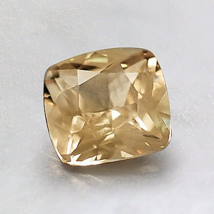 6.5mm Yellow Cushion Sapphire, top view