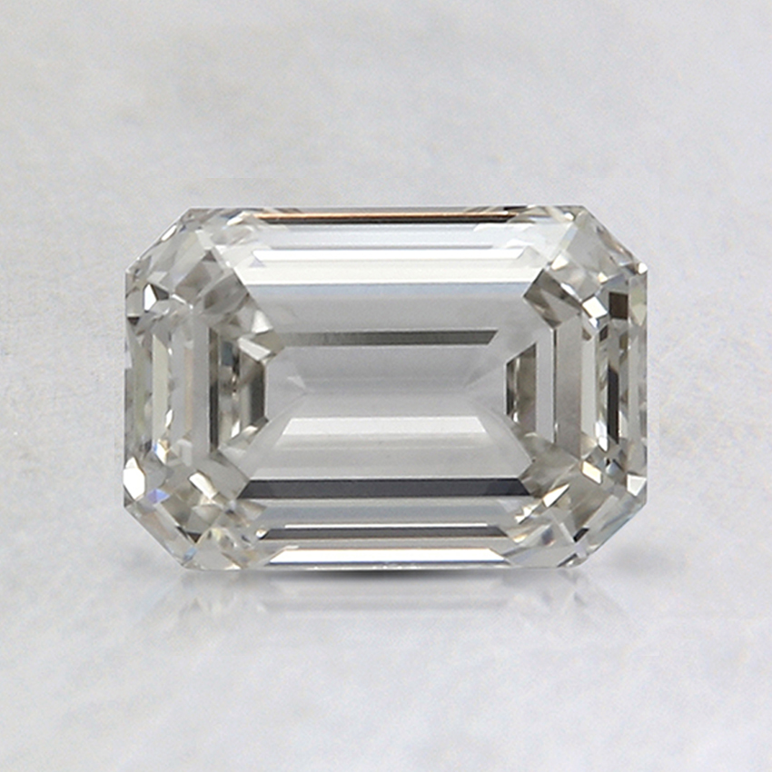 0.91 Ct. Fancy Faint Gray Emerald Lab Created Diamond