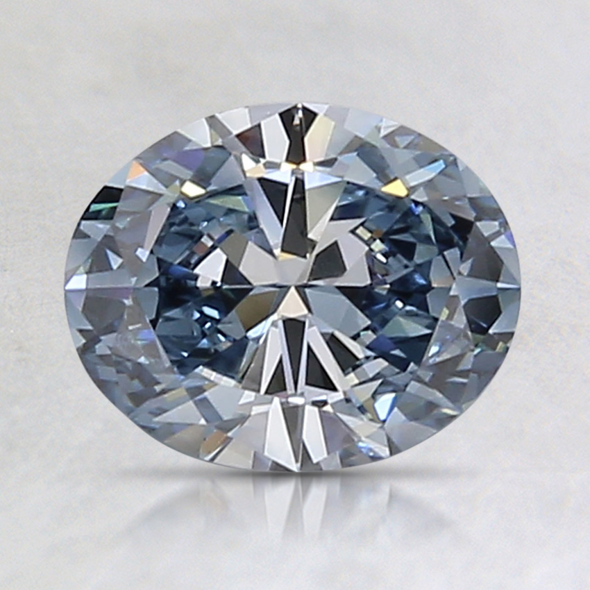 1.17 Ct. Fancy Vivid Blue Oval Lab Created Diamond