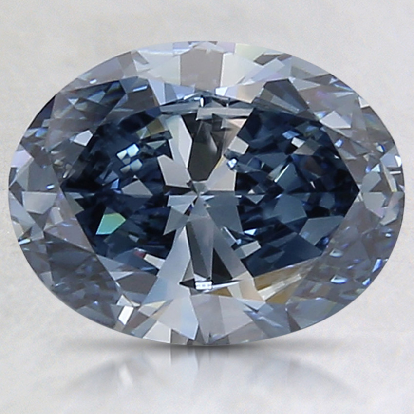1.89 Ct. Fancy Vivid Blue Oval Lab Created Diamond