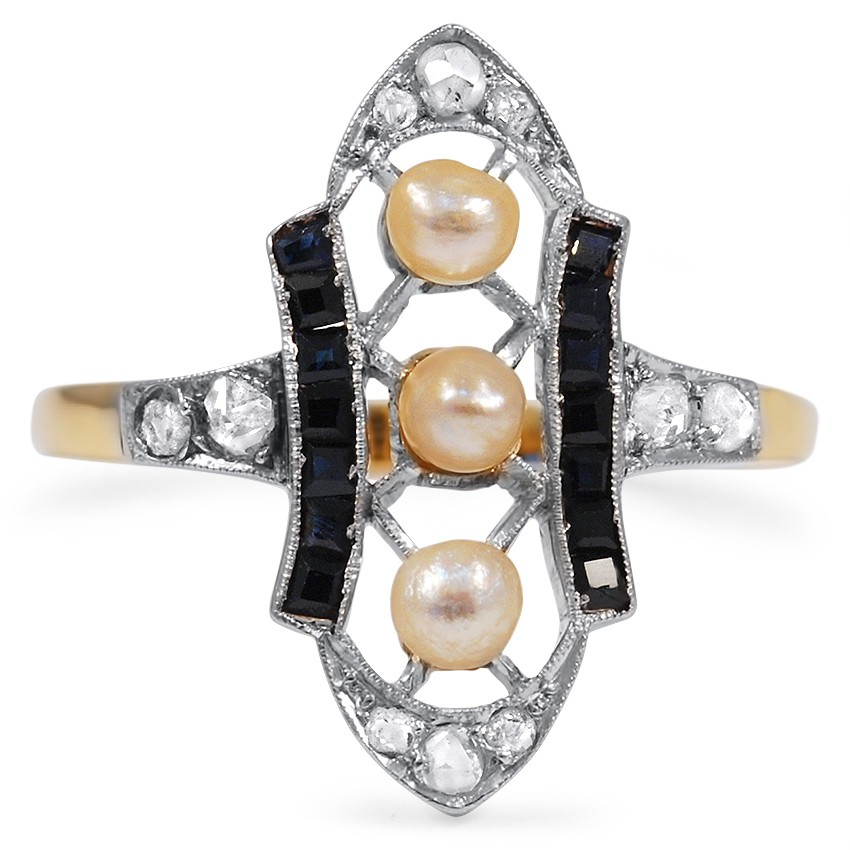 Edwardian Pearl Cocktail Ring
