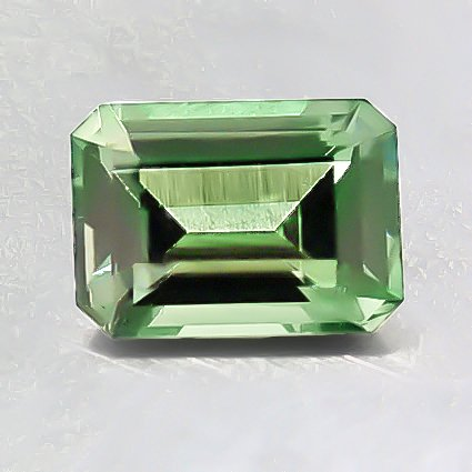 7.5X5.5mm Super Premium Green Emerald Sapphire, top view