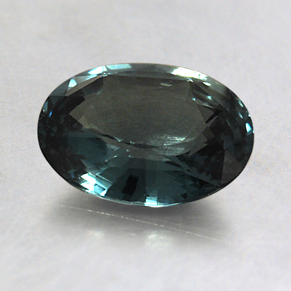 8x6mm Unheated Teal Oval Sapphire