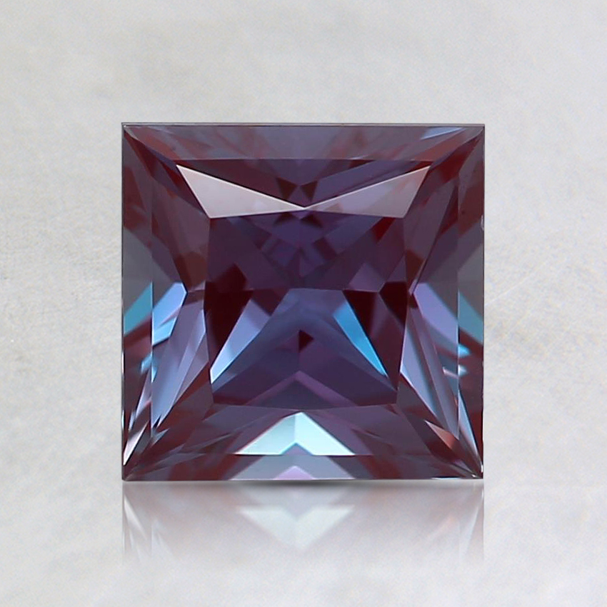 6mm Color Change Princess Lab Created Alexandrite