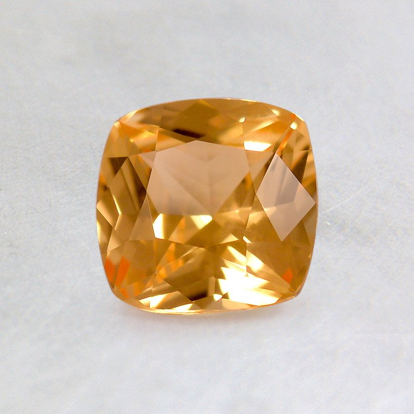 5.5mm Premium Orange Cushion Sapphire