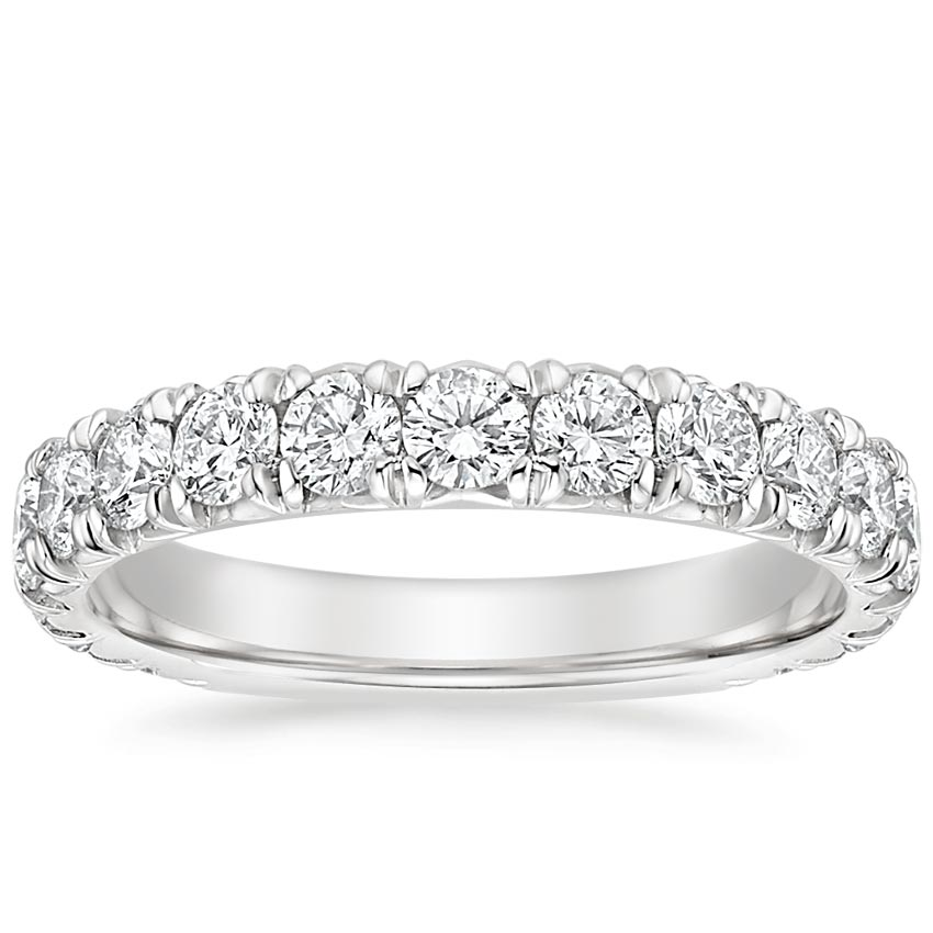 French Pavé Lab Diamond Wedding Band