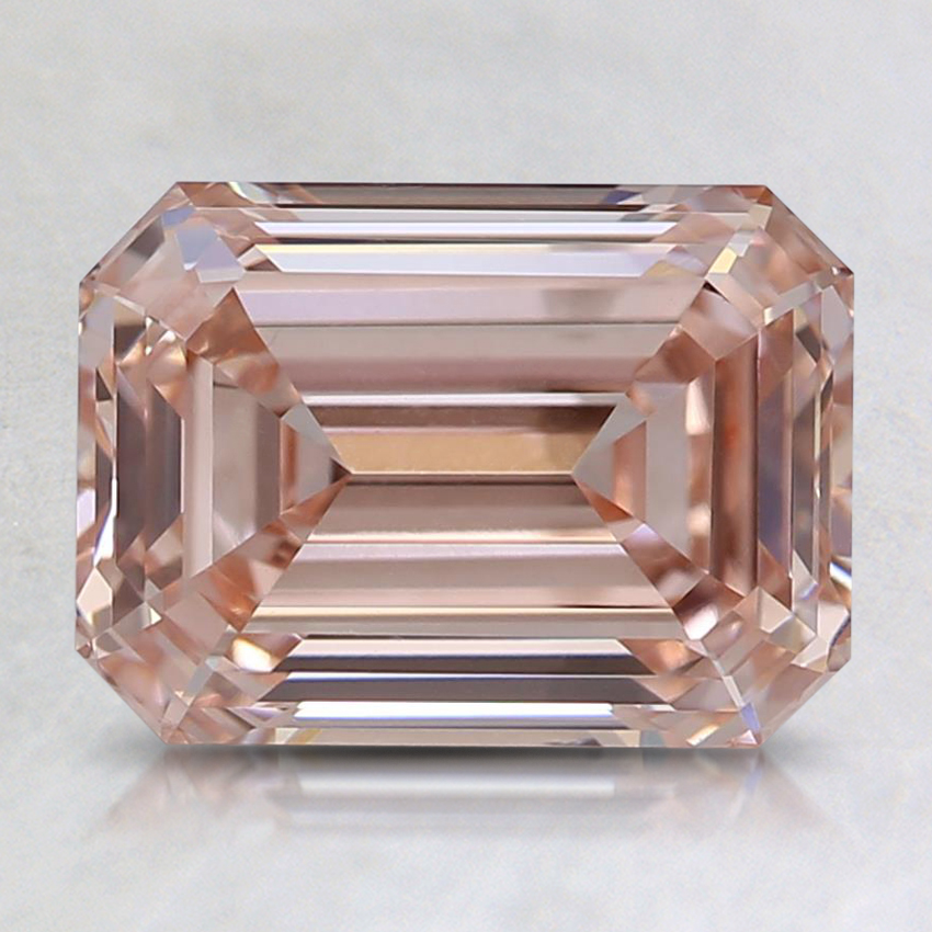 2.07 Ct. Fancy Orangy Pink Emerald Lab Created Diamond