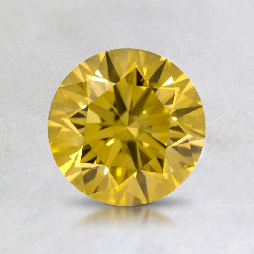1.00 Ct. Lab Created Fancy Yellow Round Diamond