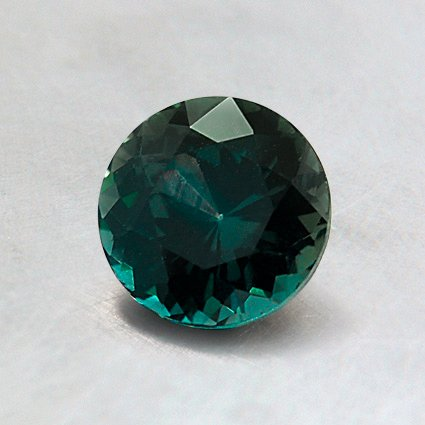 6mm Super Premium Green Round Sapphire, top view