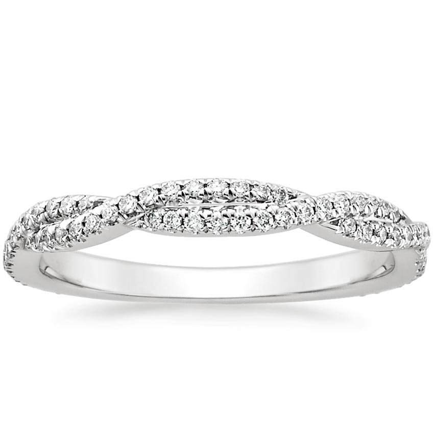 Top Twenty Women's Wedding Rings - PETITE LUXE TWISTED VINE DIAMOND RING (1/4 CT. TW.)
