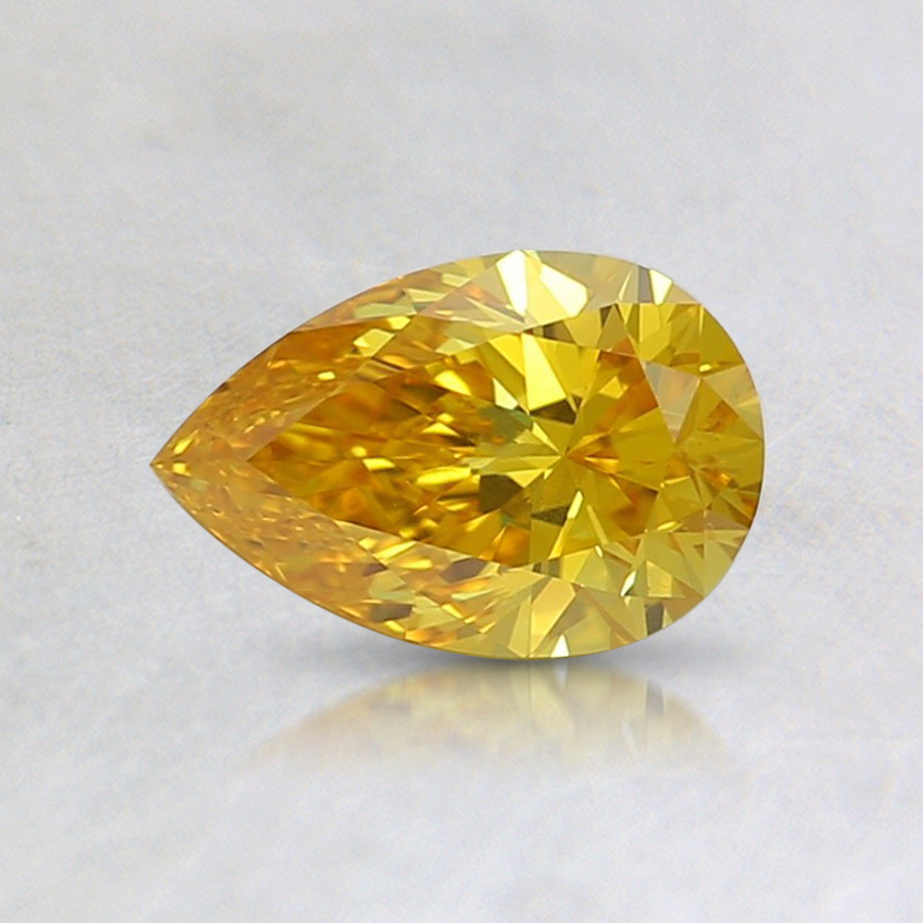 0.53 Ct. Fancy Vivid Orangy Yellow Pear Lab Created Diamond