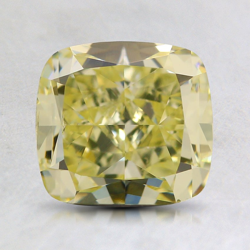 2.00 Ct. Natural Fancy Light Yellow Cushion Diamond
