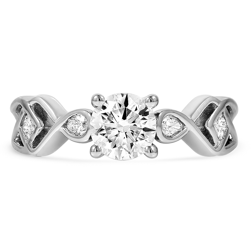 Custom Trellis Knot Diamond Ring