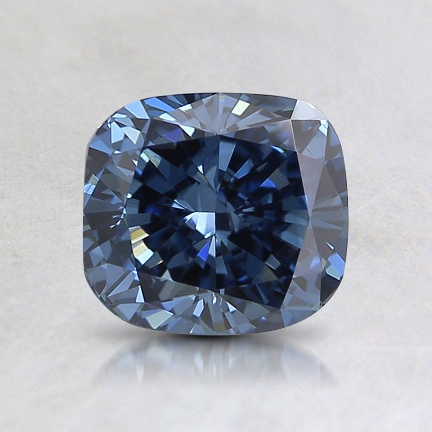 1.26 Ct. Lab Created Fancy Deep Blue Cushion  Diamond