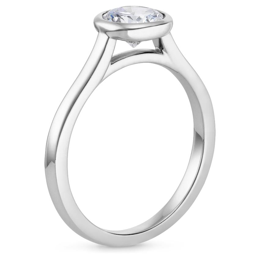 PT Moissanite Luna Ring, top view