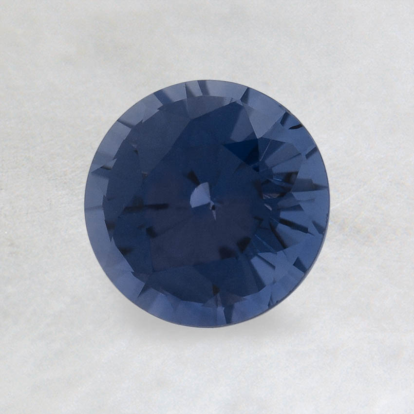 6mm Premium Color Change Round Sapphire, top view