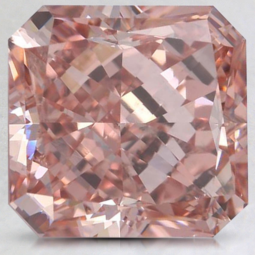 5.01 Ct. Fancy Intense Pinkish Orange Radiant Lab Created Diamond