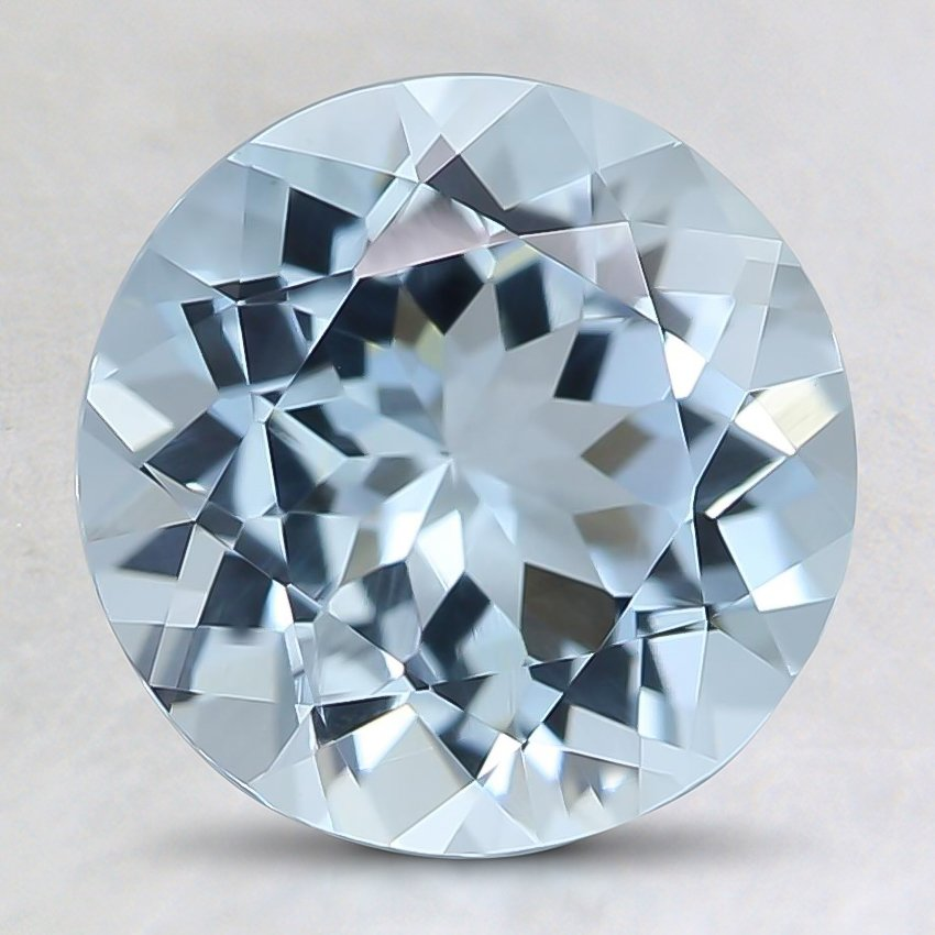 8.5mm Fine Round Aquamarine