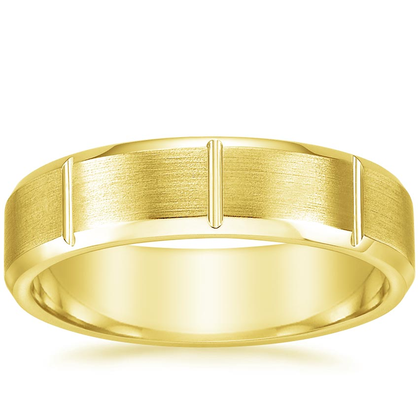 Yellow Gold Byron Wedding Ring