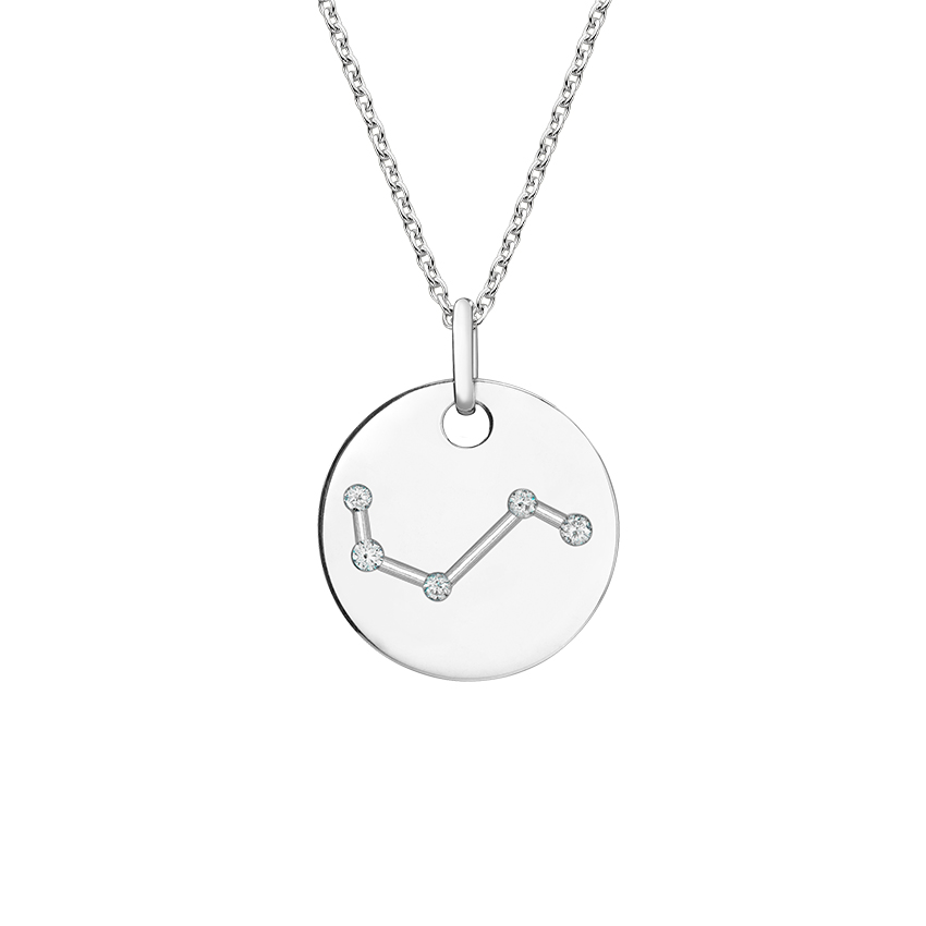 Zodiac Disc Diamond Pendant