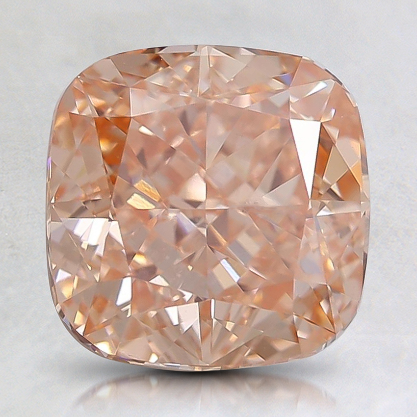2.03 Ct. Fancy Pinkish Orange Cushion Lab Created Diamond